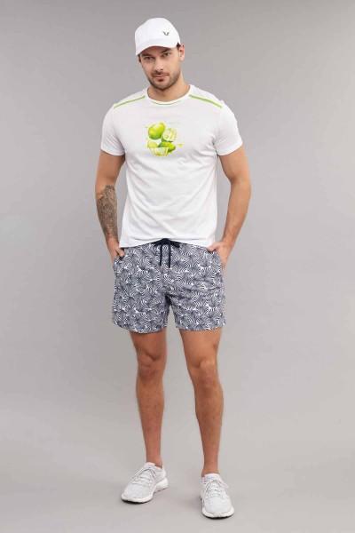 BİLCEE - Bilcee Beyaz Pamuklu Erkek T-Shirt ES-4001 (1)