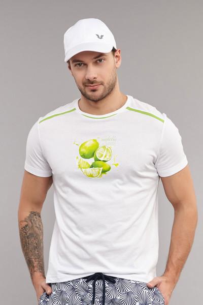 BİLCEE - Bilcee Beyaz Pamuklu Erkek T-Shirt ES-4001