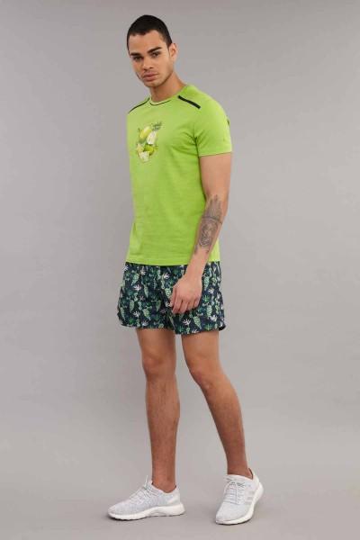 BİLCEE - Bilcee Yeşil Pamuklu Erkek T-Shirt ES-4001 (1)