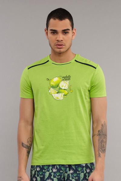 BİLCEE - Bilcee Yeşil Pamuklu Erkek T-Shirt ES-4001