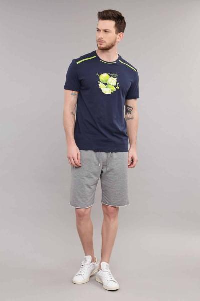 BİLCEE - Bilcee Lacivert Pamuklu Erkek T-Shirt ES-4001 (1)