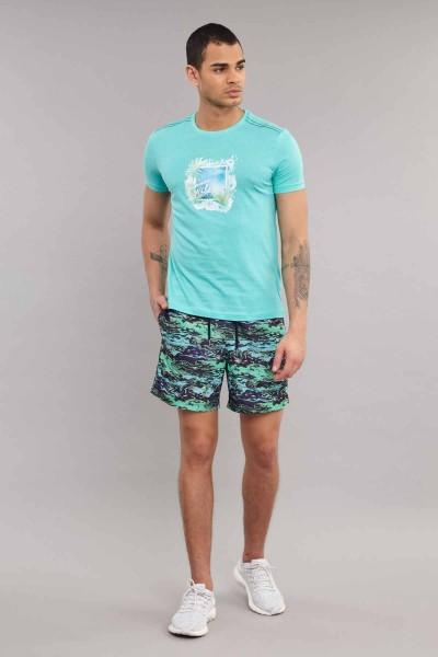 BİLCEE - Bilcee Mavi Pamuklu Erkek T-Shirt ES-4003 (1)