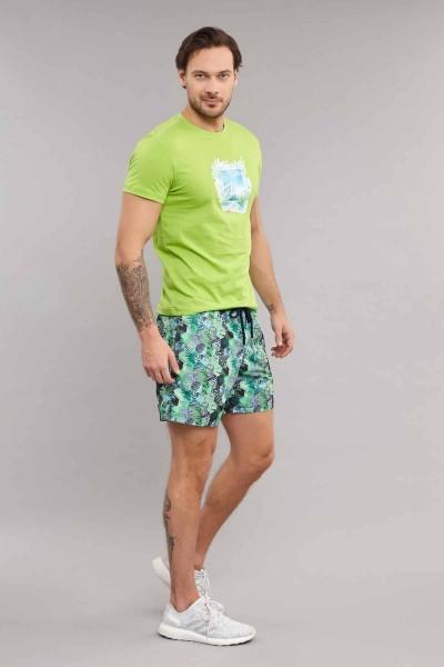 BİLCEE - Bilcee Yeşil Erkek T-Shirt ES-4003 (1)
