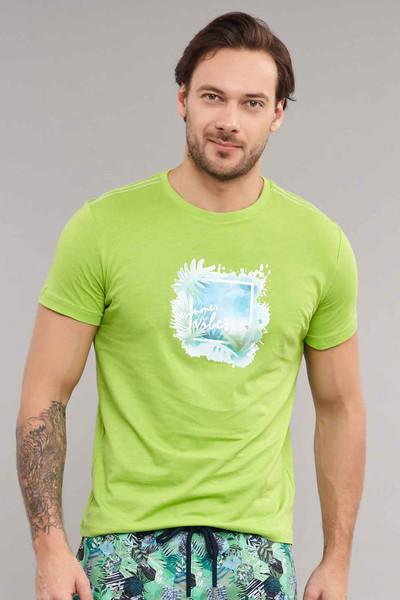 BİLCEE - Bilcee Yeşil Pamuklu Erkek T-Shirt ES-4003