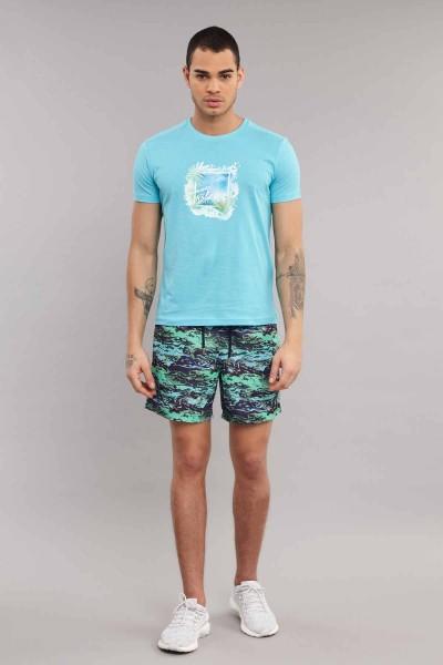 BİLCEE - Bilcee Turkuaz Erkek T-Shirt ES-4003 (1)