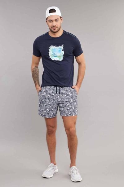 BİLCEE - Bilcee Lacivert Pamuklu Erkek T-Shirt ES-4003 (1)