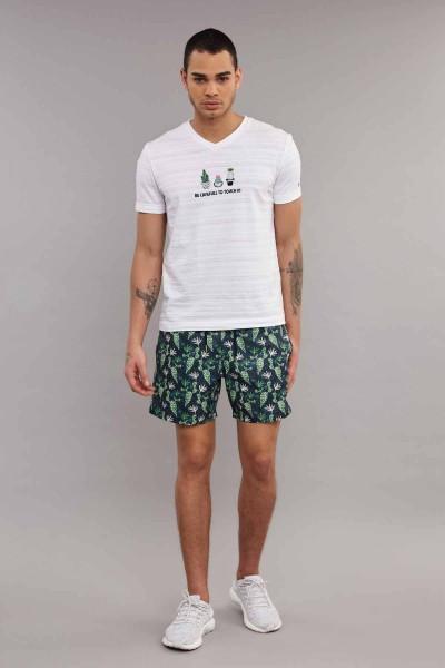 BİLCEE - Bilcee Beyaz Pamuklu Erkek T-Shirt ES-4006 (1)