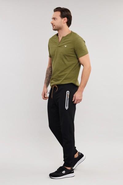 BİLCEE - Bilcee Yeşil Pamuklu Erkek T-Shirt ES-4007 (1)