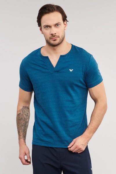 BİLCEE - Bilcee Mavi Pamuklu Erkek T-Shirt ES-4007