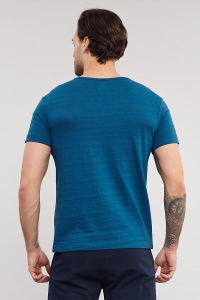 BİLCEE - Bilcee Mavi Pamuklu Erkek T-Shirt ES-4007 (1)