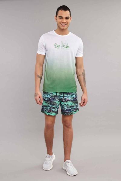 BİLCEE - Bilcee Yeşil Erkek Antrenman T-Shirt ES-4012 (1)