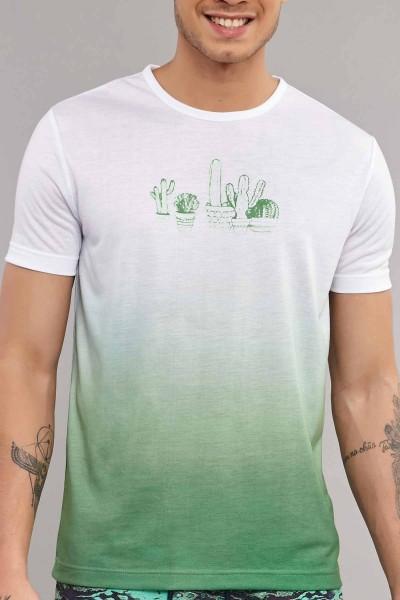 BİLCEE - Bilcee Yeşil Erkek Antrenman T-Shirt ES-4012