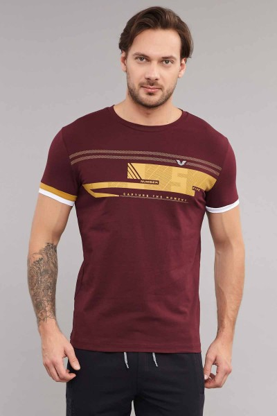 BİLCEE - Bilcee Erkek Likralı Pamuklu T-Shirt ES-4058