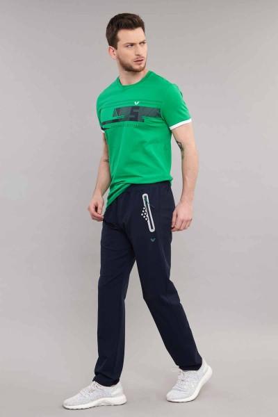 BİLCEE - Bilcee Yeşil Likralı Pamuklu Erkek T-Shirt ES-4058 (1)