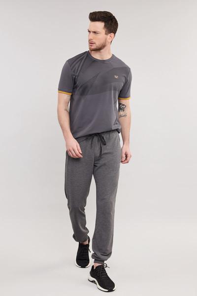 BİLCEE - Bilcee Erkek Likralı Pamuklu T-Shirt ES-4059 (1)