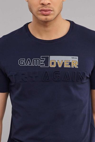 BİLCEE - Bilcee Erkek Likralı Pamuklu T-Shirt ES-4063