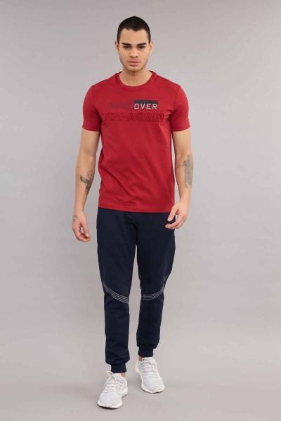 BİLCEE - Bilcee Bordo Likralı Pamuklu Erkek T-Shirt ES-4063 (1)