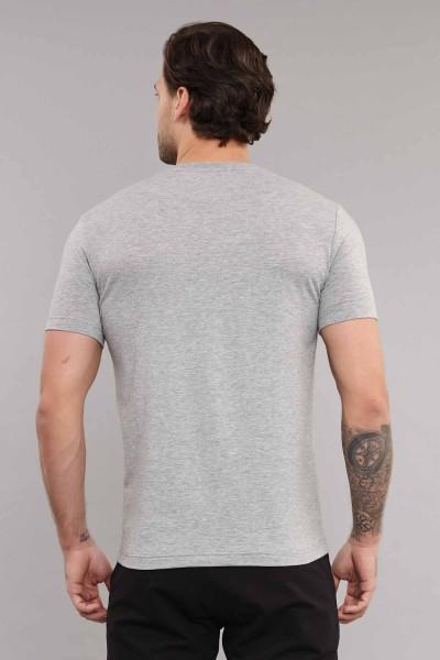 BİLCEE - Bilcee Gri Likralı Pamuklu Erkek T-Shirt ES-4063 (1)