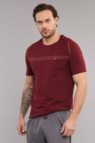 BİLCEE - Bilcee Bordo Pamuklu Erkek T-Shirt ES-4064 (1)