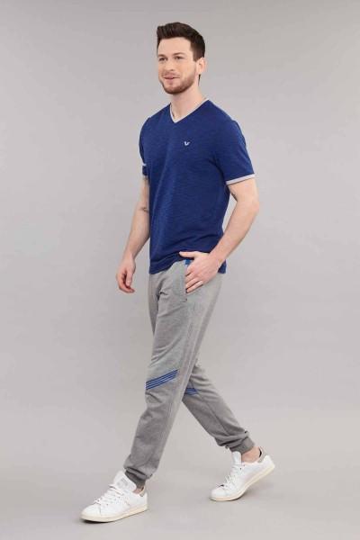 BİLCEE - Bilcee Mavi Pamuk/Poly Erkek T-Shirt ES-4069 (1)