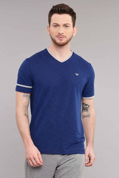 BİLCEE - Bilcee Mavi Pamuk/Poly Erkek T-Shirt ES-4069