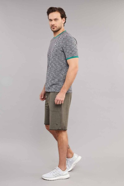 BİLCEE - Bilcee Siyah Pamuk/Poly Erkek T-Shirt ES-4069 (1)