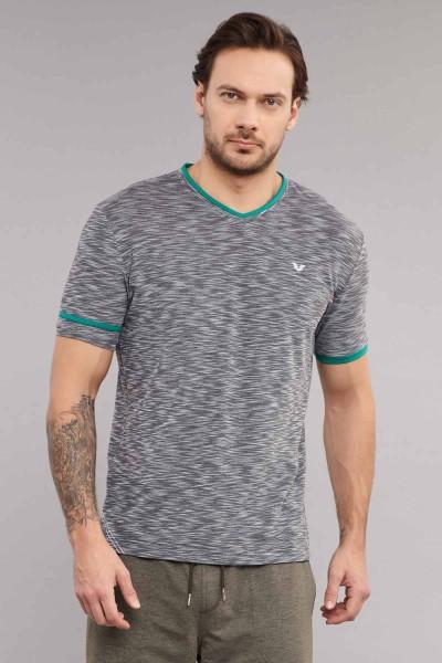 BİLCEE - Bilcee Siyah Pamuk/Poly Erkek T-Shirt ES-4069