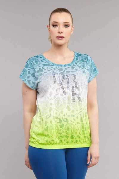 BİLCEE - Bilcee Büyük Beden Pamuk/Poly Kadın T-Shirt ES-4223