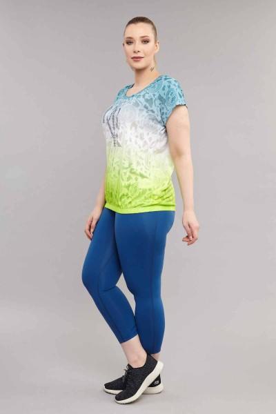 BİLCEE - Bilcee Büyük Beden Pamuk/Poly Kadın T-Shirt ES-4223 (1)