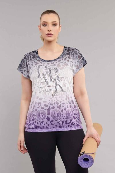BİLCEE - Bilcee Siyah Büyük Beden Pamuk/Poly Kadın T-Shirt ES-4223