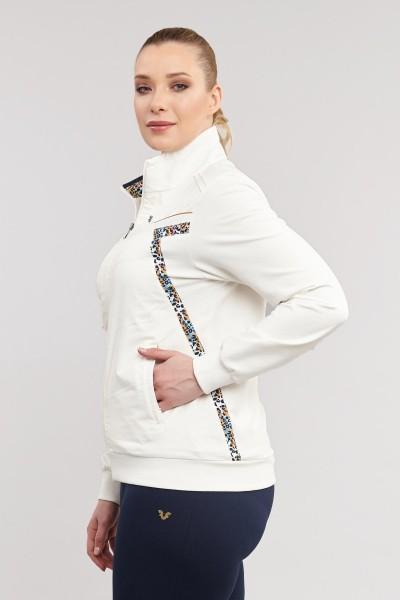 BİLCEE - Büyük Beden Beyaz Üçlü Pamuk/Poly Kadın Eşofman Takımı ES-8321 (1)