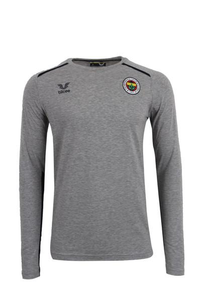 BİLCEE - Fenerbahçe Voleybol Gri UK Antrenman T-shirt FB-0033