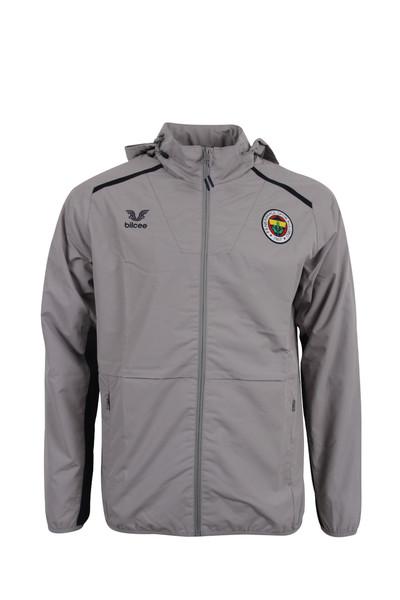 BİLCEE - Fenerbahçe Voleybol Gri Kapüşonlu Rüzgarlık FB-0035
