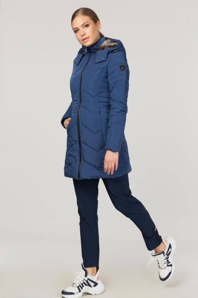 BİLCEE - Bilcee Mavi Kadın Mont CW-0545