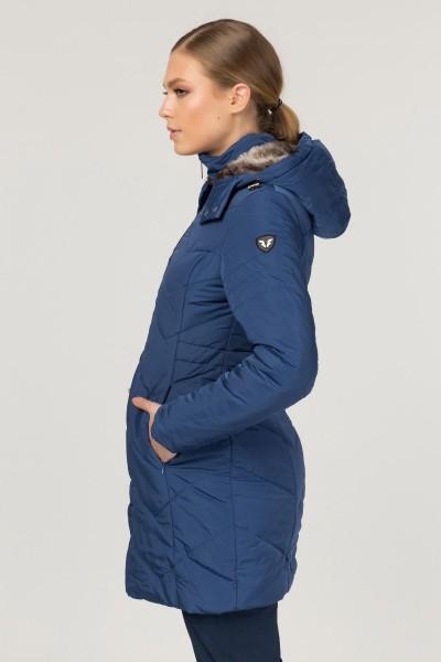 BİLCEE - Bilcee Mavi Kadın Mont CW-0545 (1)