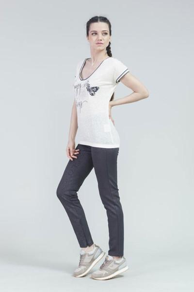 BİLCEE - Bilcee Pamuklu Kadın T-Shirt CW-9111 (1)
