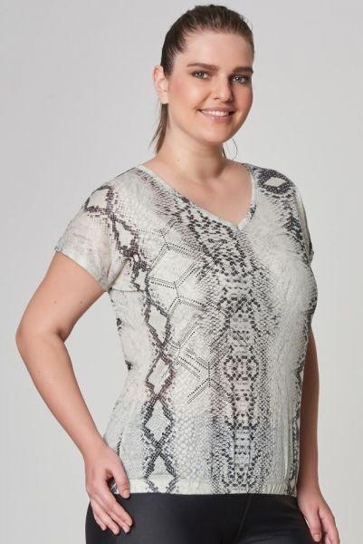 BİLCEE - Bilcee Büyük Beden Kadın T-Shirt CW-9103