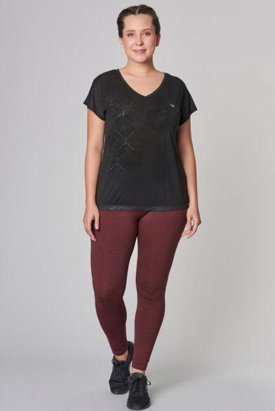 BİLCEE - Bilcee Büyük Beden Siyah Kadın T-Shirt CW-9103 (1)