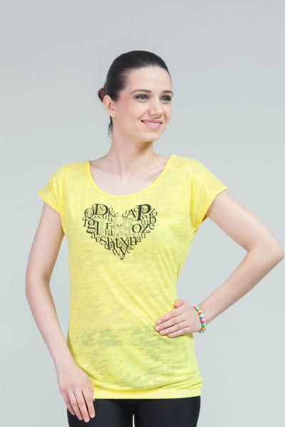 BİLCEE - Bilcee Pamuklu Kadın T-Shirt CW-9105