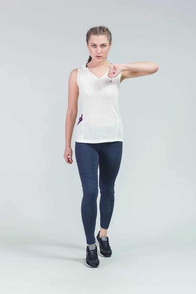 BİLCEE - Bilcee Krem Kadın T-Shirt CW-9112 (1)