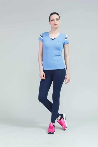 BİLCEE - Bilcee Mavi Kadın T-Shirt CW-9119 (1)