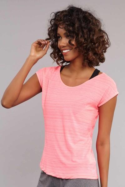 BİLCEE - Bilcee Pembe Kadın Antrenman T-Shirt CW-9130 (1)