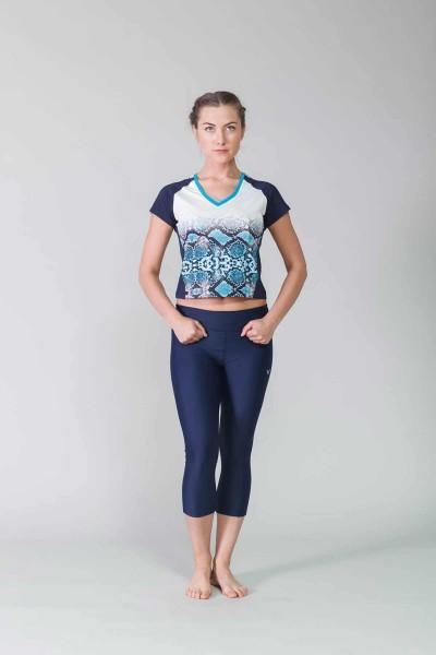BİLCEE - Bilcee Lacivert Kadın T-Shirt CW-9140 (1)