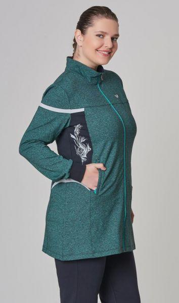 BİLCEE - Bilcee Yeşil Büyük Beden Kadın Eşofman Takımı DW-1566 (1)
