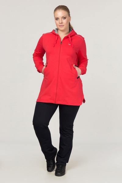 BİLCEE - Büyük Beden Pamuk/Poly Kırmızı Kadın Eşofman Takımı DW-1567