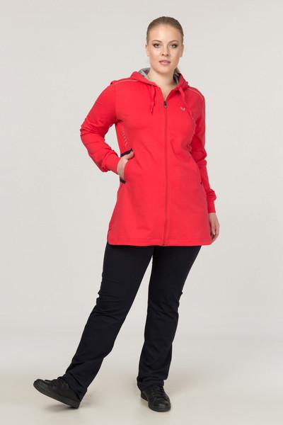 BİLCEE - Büyük Beden Pamuk/Poly Kırmızı Kadın Eşofman Takımı DW-1567 (1)