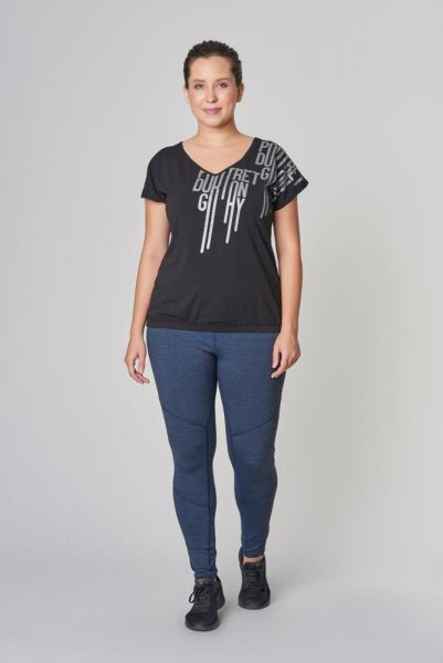 BİLCEE - Bilcee Büyük Beden Kadın Pamuklu T-Shirt DS-2131 (1)