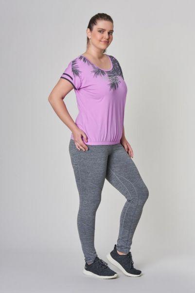 BİLCEE - Büyük Mor Beden Pamuklu Kadın T-Shirt DW-2133 (1)
