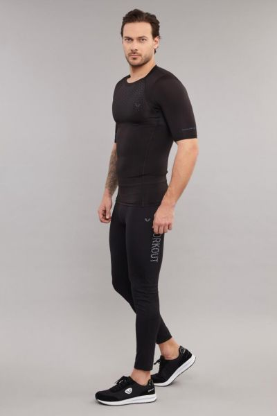 BİLCEE - Bilcee Siyah Erkek Antrenman T-Shirt DS-1414 (1)