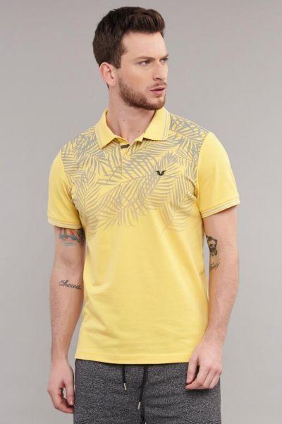 BİLCEE - Bilcee Sarı Polo Yaka Erkek Antrenman T-Shirt DS-2100